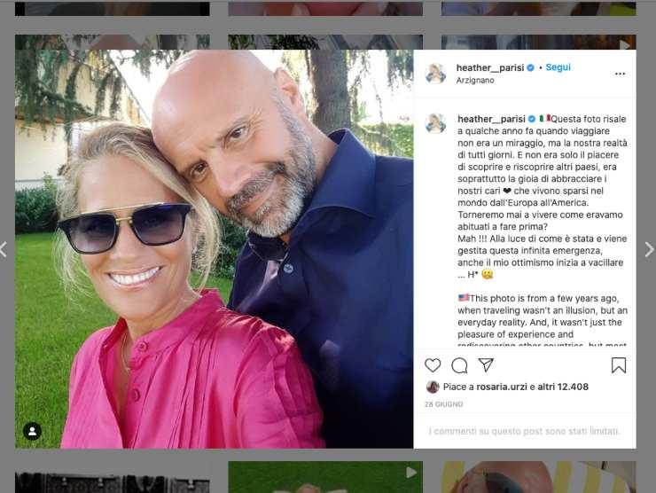 Schermata profilo Instagram di Heather Parisi (Instagram)
