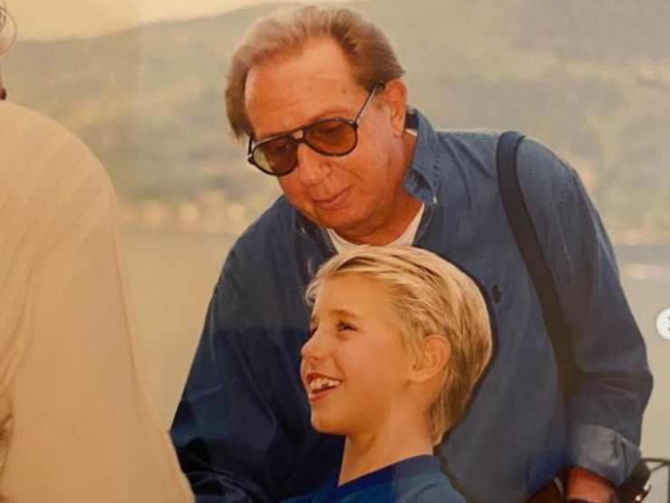 Un giovane Leonardo con il papà