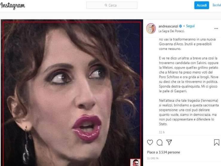 Andrea Scanzi post Instagram 12 ott
