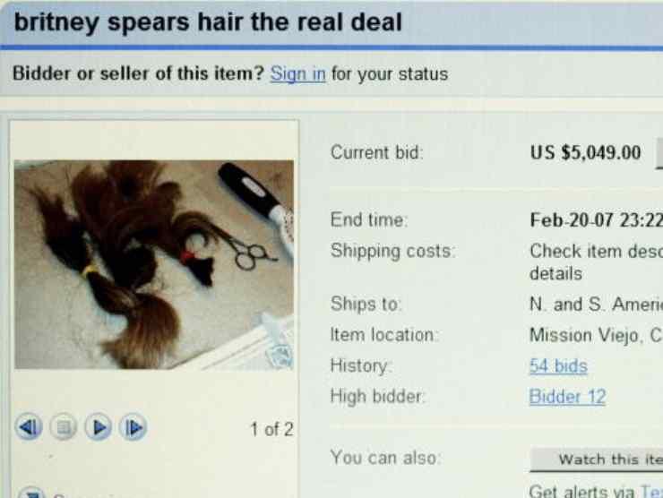 I capelli tagliati della Spears