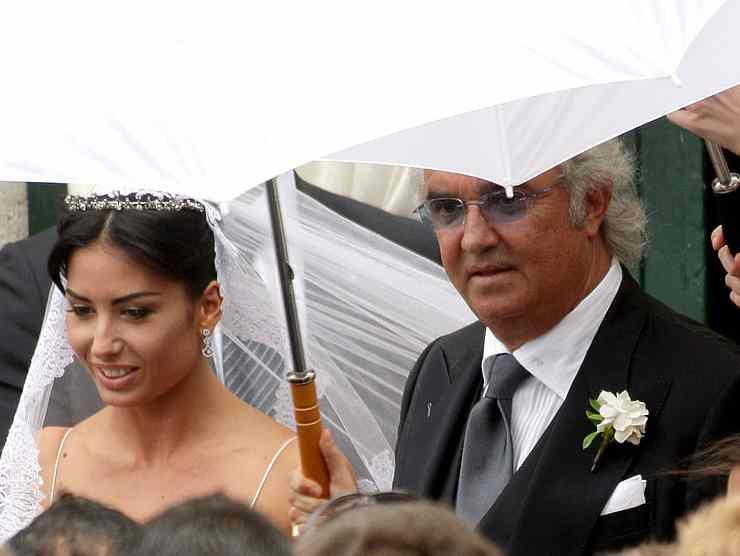 La Gregoraci e Briatore il giorno del matrimonio