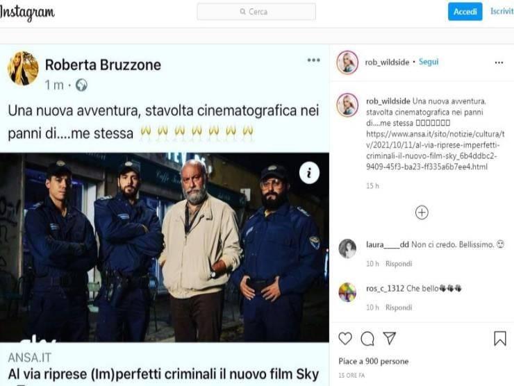 Roberta Bruzzone post Instagram