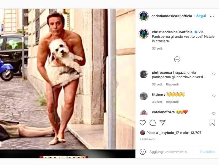 Schermata profilo Instagram di Christian De Sica (Instagram)