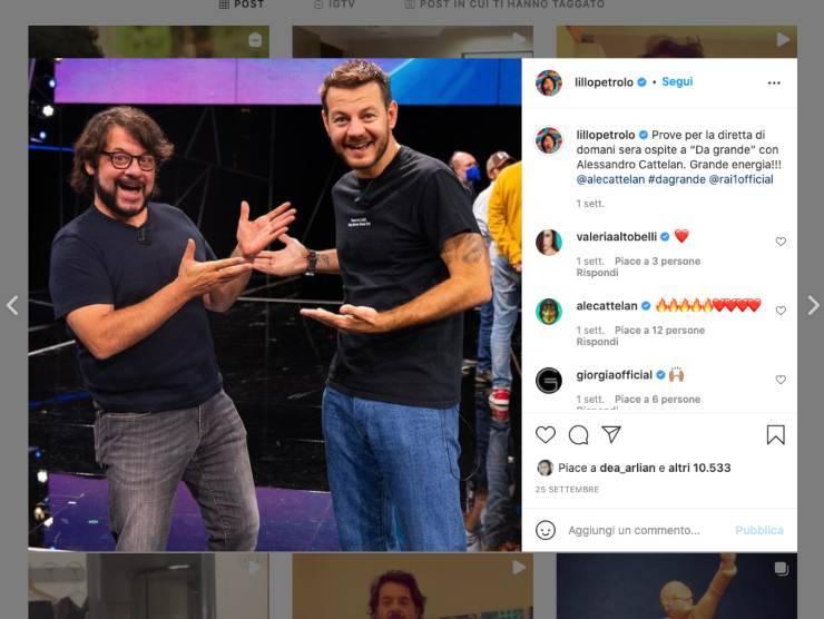 Schermata profilo Instagram di Lillo Petrolo (Instagram)