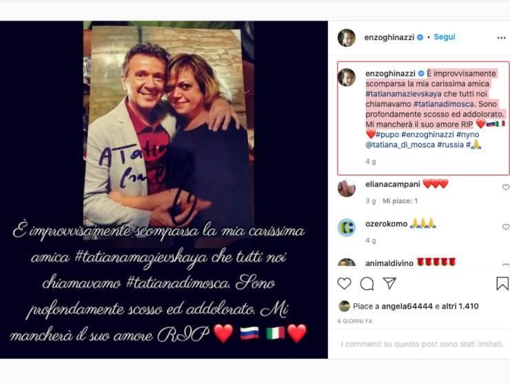 Schermata profilo Instagram di Enzo Ghinazzi (Instagram)