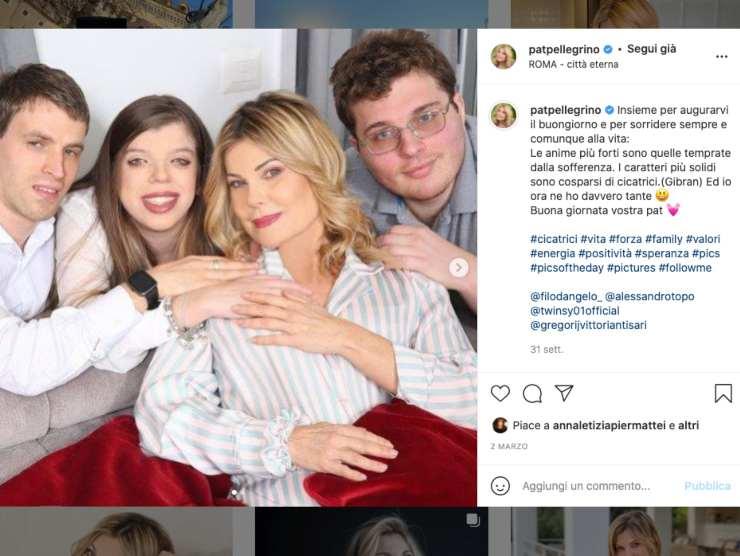 Schermata profilo Instagram di Patrizia Pellegrino (Instagram)