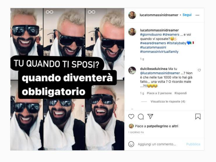 Schermata profilo Instagram di Luca Tommassini (Instagram)