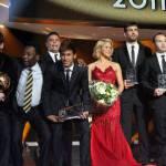 Shakira: serata di gala a Zurigo per premiare i migliori giocatori del mondo (fotogallery)