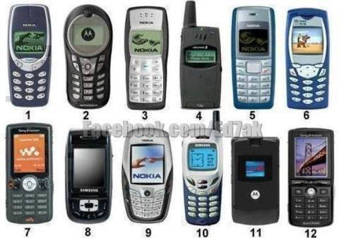 Qual'è stato il vostro primo cellulare da 1 a 12 ?
