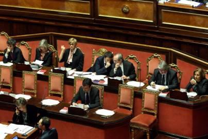 I ministri del governo Renzi in Parlamento ( Franco Origlia/Getty Images)