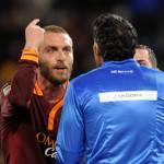 Giudice Sportivo, tre turni per De Rossi, Juan Jesus e Berardi