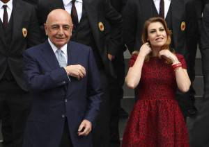 Barbara Berlusconi e Adriano Galliani (getty images)