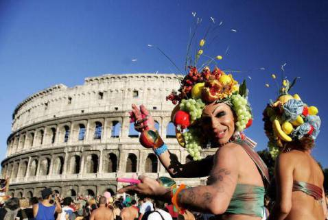 Gay Pride a Roma (FILIPPO MONTEFORTE/AFP/Getty Images)