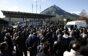 Manifestazione di fronte a Termini Imerese(Marcello Paternostro/afp/Getty Images)