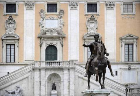 Campidoglio a Roma (FILIPPO MONTEFORTE/AFP/Getty Images)