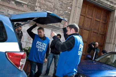 Polizia scientifica sul luogo dell'omicidio Claps (getty images)