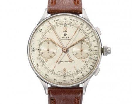4b03c9ef49c1 Nuovo record per Rolex e per la casa d'aste Christie's che ha battuto un  cronografo del 1942 per 1,16 milioni di dollari, cifra che rende questo  raro ...