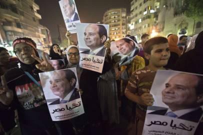 Sostenitori di Abdel Fattah al Sisi, Egitto (Getty images)