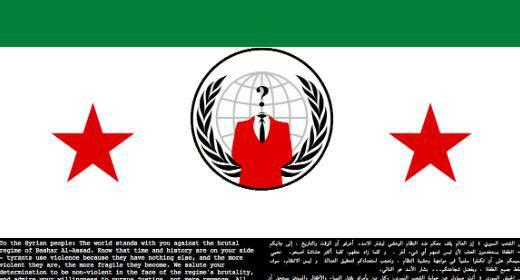 Hacker all'assalto di Assad: Anonymous viola il sito web del ministero della Difesa siriano