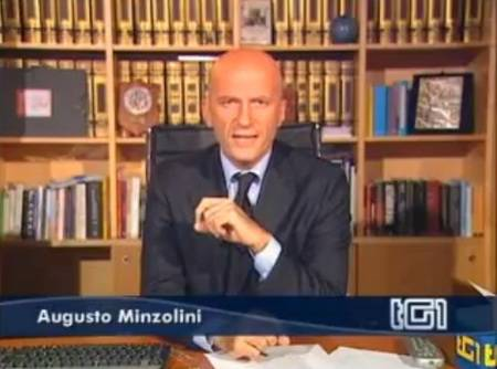 """Critiche dell'Idv sulla diretta di Berlusconi al Tg1: """"Sono pure scemenze"""", replica Minzolini"""