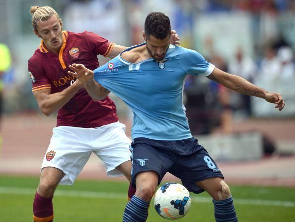 Serie A, Roma – Lazio 2-0: Balzaretti e Ljacic delirio giallorosso