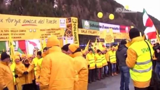 Coldiretti prosegue il presidio al brennero oggi a for Montecitorio oggi