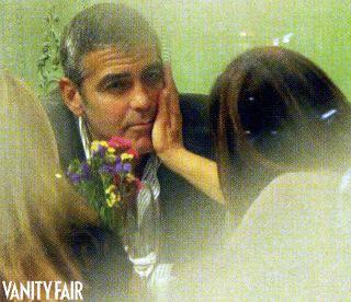 GEORGE CLOONEY / Elisabetta Canalis, la coppia paparazzata da Vanity Fair a Milano