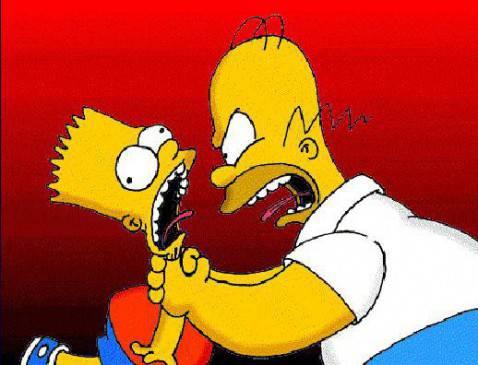 Homer e Bart 478x365 Le voci originali dei Simpson: Bart, Homer, Lisa, Moe, Mr. Burns (Video)