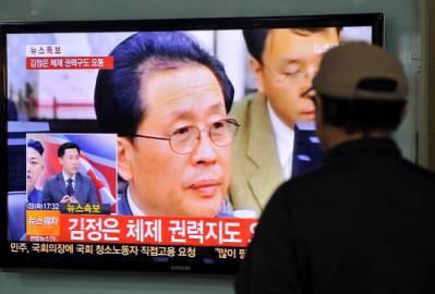 Annuncio televisivo rimozione di Jang Song-thaek (Getty images)