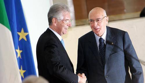 Governo: Monti andrà domani da Napolitano con la lista dei ministri