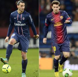 Messi - Ibra (getty Images)