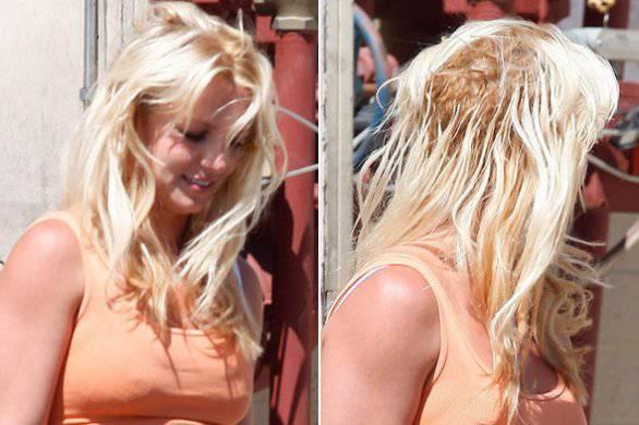 Britney Spears e le sue terrificanti extension