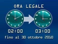 Ora Legale 2011:Dalle 02.00 la vita andrà avanti di un ora