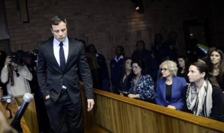 Oscar Pistorius davanti alla Corte a Pretoria (Getty images)