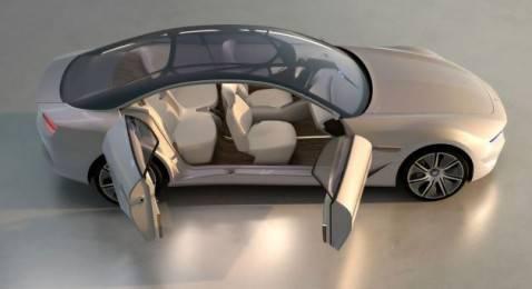 Pininfarina Cambiano Concept dallalto 478x260 Pininfarina Cambiano: prototipo made in Italy al Salone di Ginevra 2012 (fotogallery)