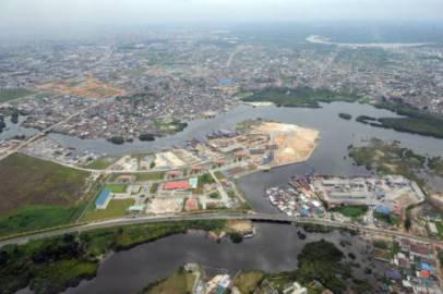 Veduta aerea di Port Harcourt, Nigeria (Getty Images)