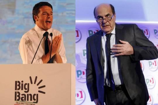Pd: iniziata la corsa alle primarie, Bersani a Bettola e Renzi a Salerno