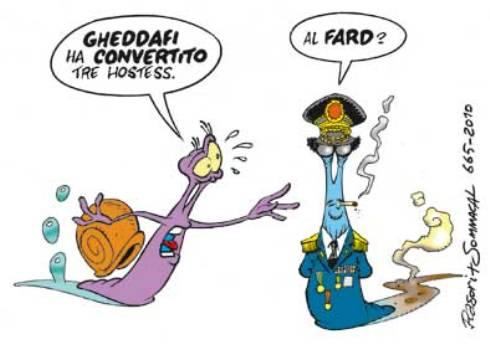 VIGNETTE SATIRICHE / Gheddafi, la conversione di tre hostess…
