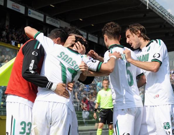 Il Sassuolo vince il derby d'Emilia: poker al Parma