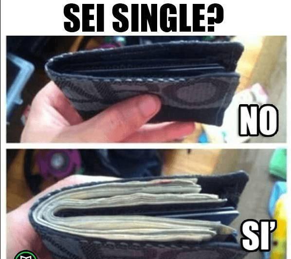 Le differenze nell'essere single o no…