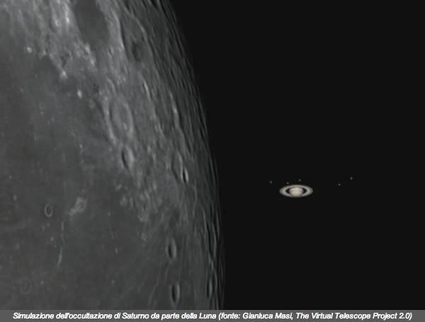"""Spettacolo nel cielo: oggi la Luna e Saturno """"giocano a nascondino"""""""