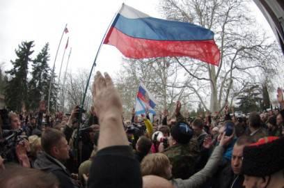 Sebastopoli , proteste filo russe (Getty images)