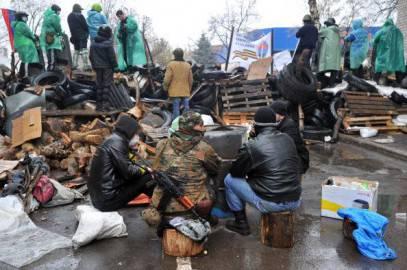 Barricate filo russe a Slavyansk (Getty images)