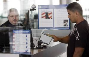Checkpoint all'aeroporto di Houston (Getty Images)
