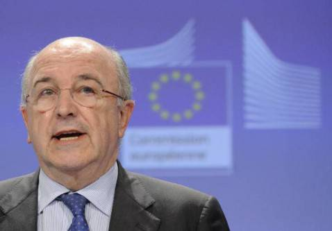 Il commissario Ue per la concorrenza, Joaquim Almunia (JOHN THYS/AFP/Getty Images)