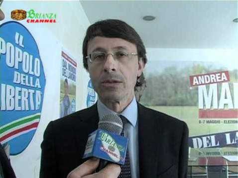 Andrea Mandelli (screenshot Brianza Channel/Youtube)