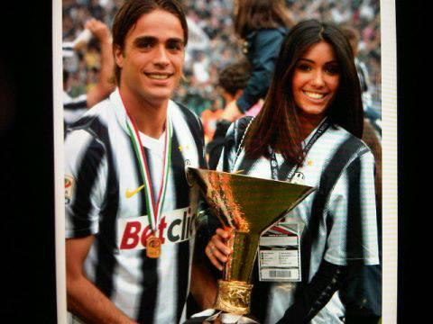 Federica Nargi festeggia con Alessandro Matri lo scudetto delle Juventus