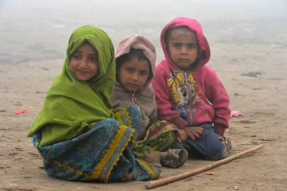Bambini senza tetto in Pakistan (Getty images)