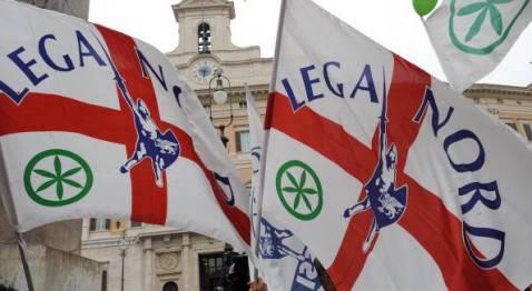 Bandiere della Lega Nord (CHRISTOPHE SIMON/AFP/Getty Images)