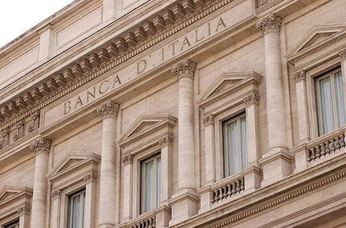 La sede della Banca d'Italia a via Nazionale a Roma